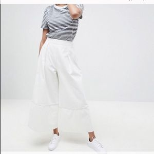 ASOS Denim Wide Leg Pant